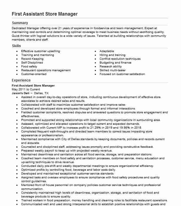 first assistant manager resume example burger crescent city insurance consultant great Resume Burger King Assistant Manager Resume