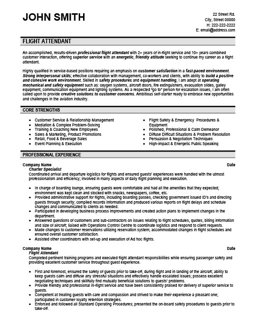 flight attendant resume template premium samples example format for should you put Resume Resume Format For Flight Attendant