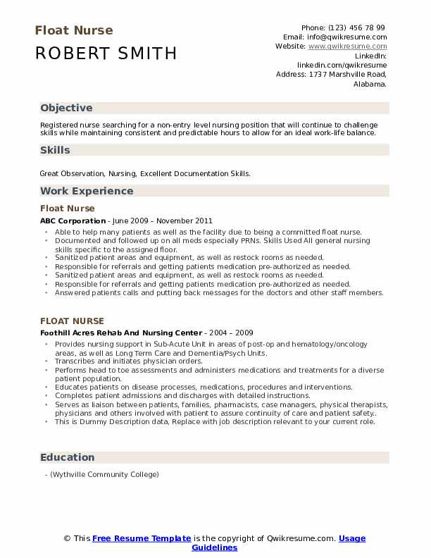 float nurse resume samples qwikresume entry level pdf opt bank project manager sample Resume Entry Level Nurse Resume