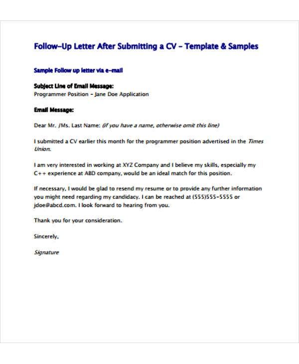 follow up letter template free sample example format premium templates after resume Resume Sample Follow Up Letter After Resume