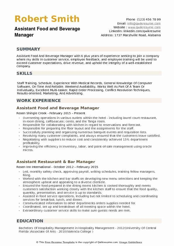 food and beverage manager director resume sample now free protocol testing maven build Resume Food And Beverage Director Resume Sample