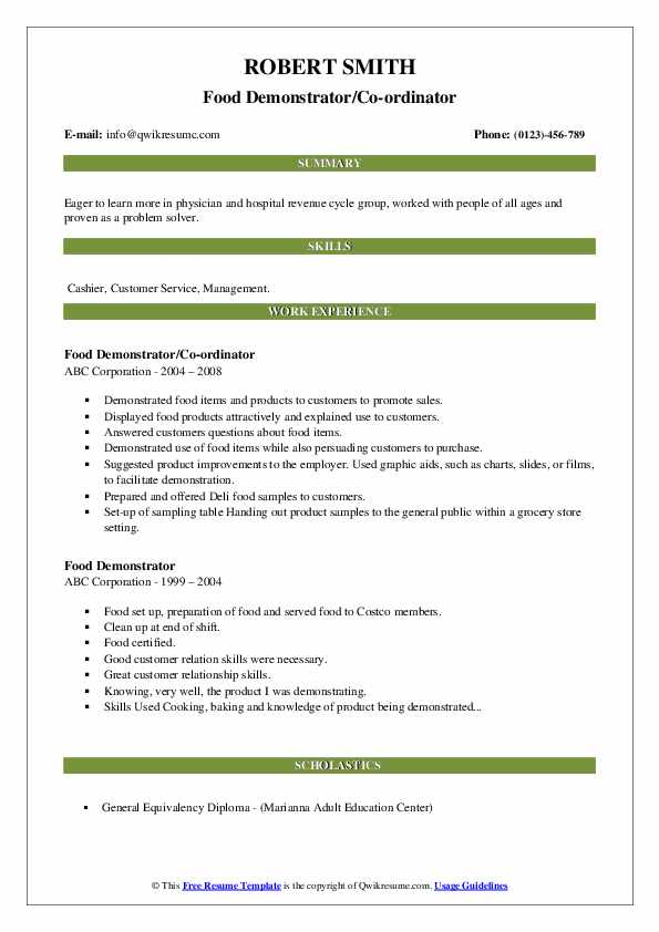 food demonstrator resume samples qwikresume product pdf iis administrator sample entry Resume Product Demonstrator Resume