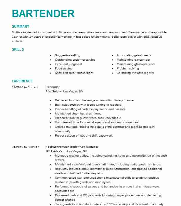 for resume bartender duties format job responsibilities catering on mortgage loan officer Resume Bartender Job Responsibilities Resume