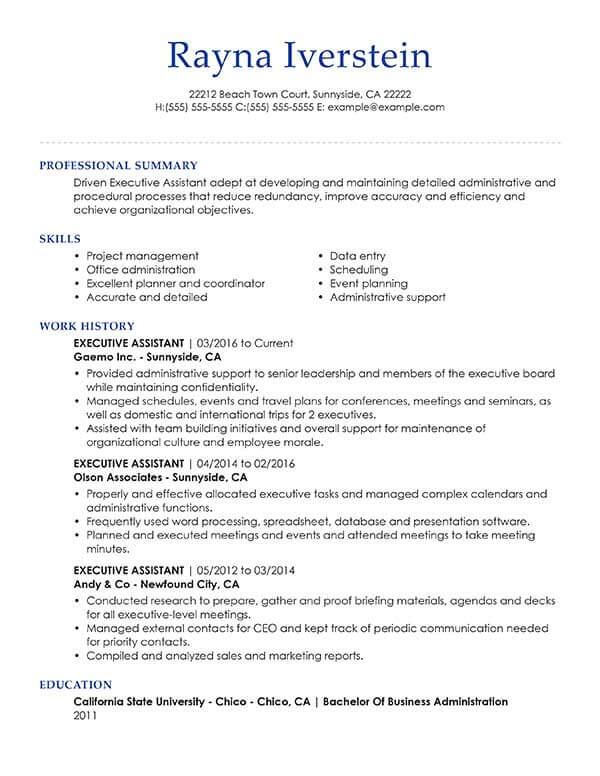for resume summary samples format template free best websites procedure seo executive Resume Resume Summary Template Free