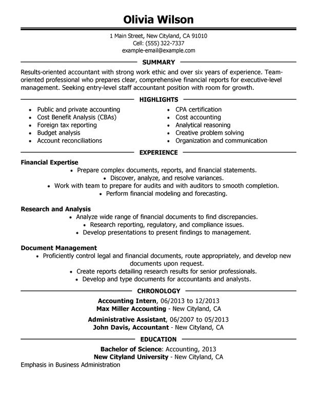 for staff accountant resumes samples resume format team supervisor federal air marshal Resume Staff Accountant Resume