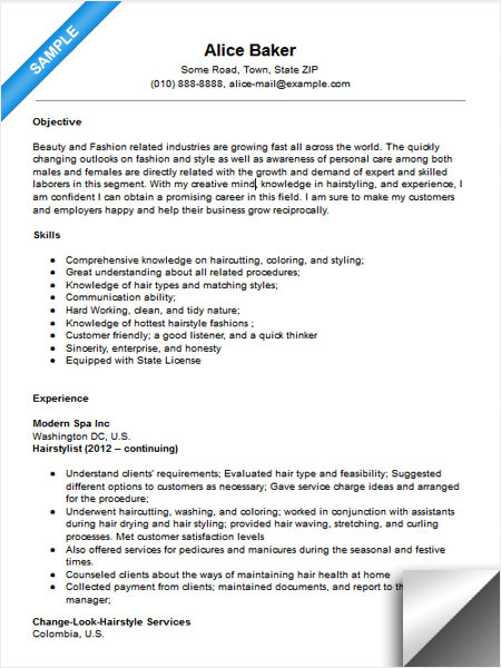 for stylist resume examples format hair template teacher aide objective cpa candidate mba Resume Hair Stylist Resume Template