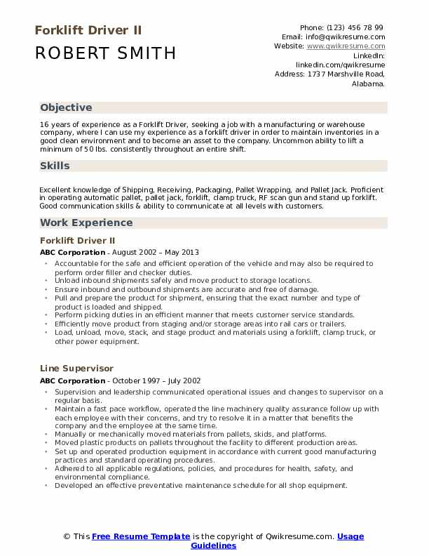 forklift driver resume samples qwikresume certification on pdf usajobs federal template Resume Forklift Certification On Resume