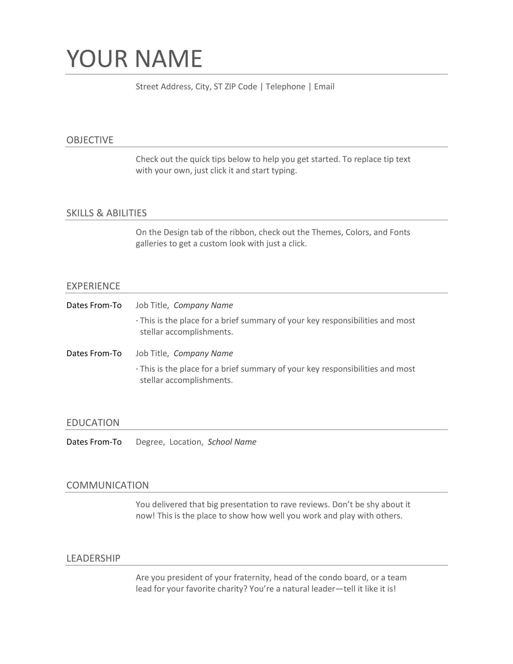 formats of resume examples and sample for freshers typing up job combination medical Resume Typing Up A Resume For A Job