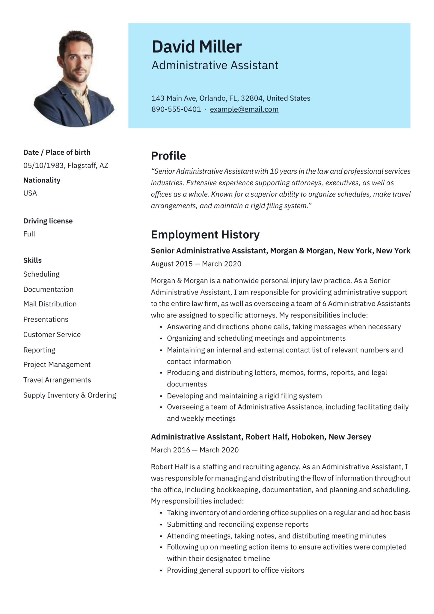 free administrative assistant resumes writing guide pdf executive resume examples scaled Resume Executive Assistant Resume Examples 2020