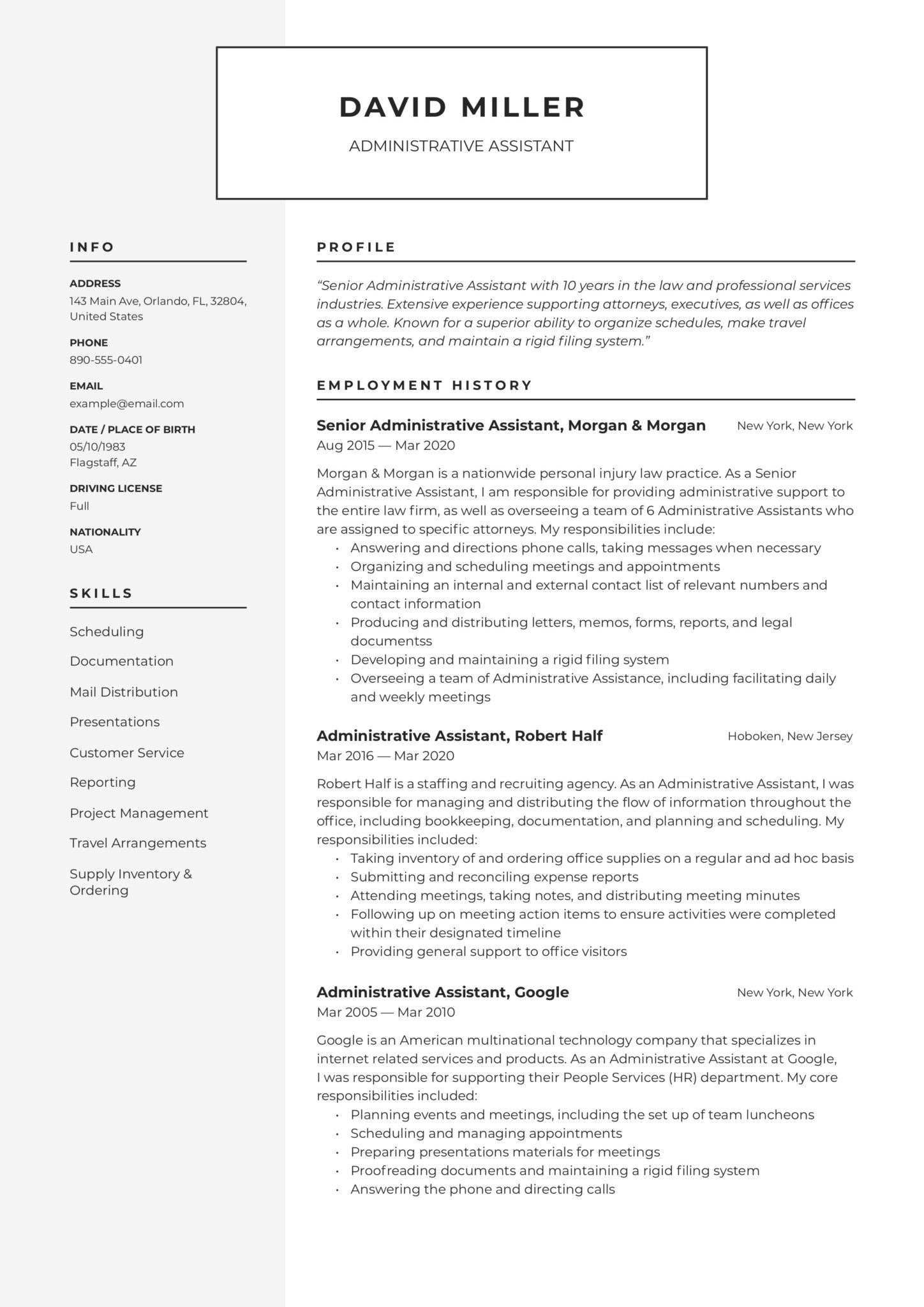 free administrative assistant resumes writing guide pdf resume examples scaled health Resume Administrative Assistant Resume Examples 2020