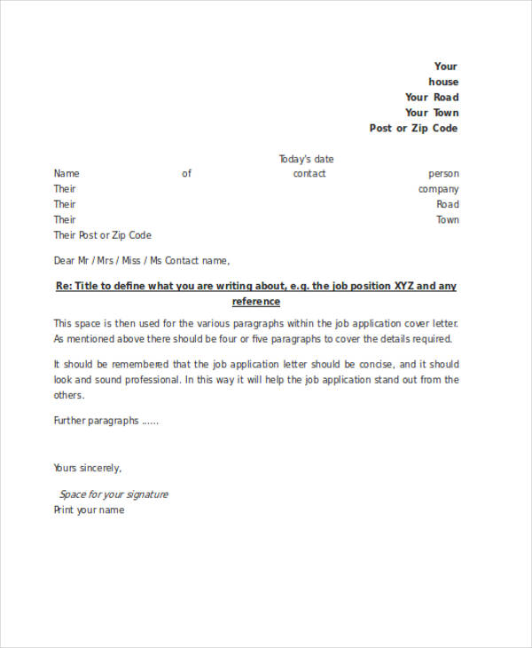 free application letter examples samples in editable pdf google docs word formal with Resume Formal Letter With Resume
