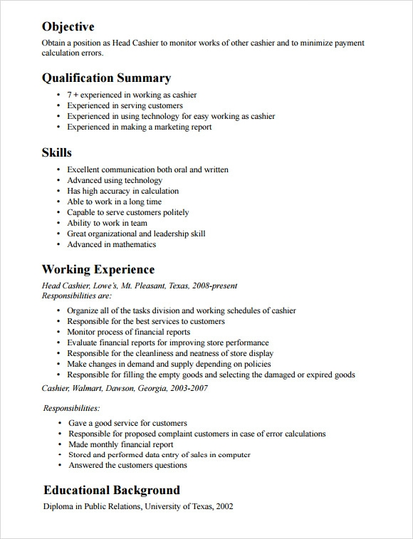 free cashier resume templates in pdf high school head template optimal san jac digital Resume High School Cashier Resume