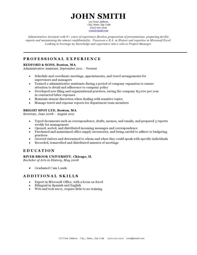 free classic resume templates in microsoft word format creativebooster template bw og Resume Classic Resume Template