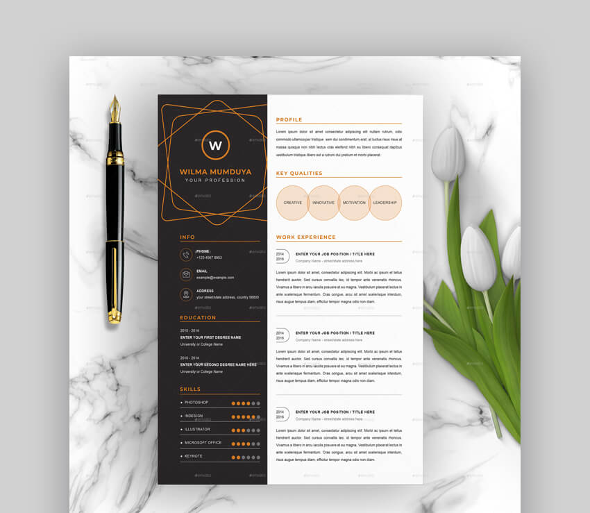 free creative resume templates word downloads for professional and template blueprint Resume Professional And Creative Resume Templates