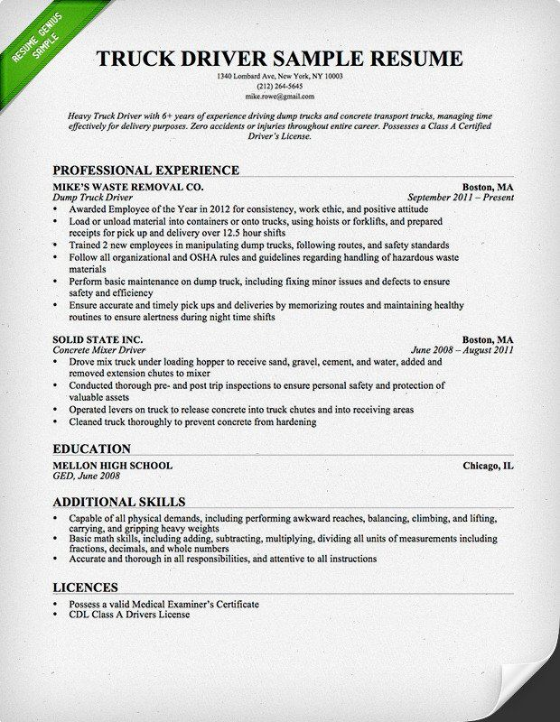 free downlodable resume templates genius examples truck driver template oversaw on chrono Resume Free Truck Driver Resume Template