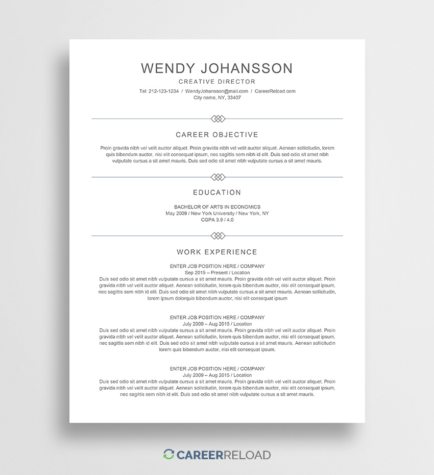 free entry level resume template wendy career reload basic word genius cover letter Resume Basic Resume Template Word Download