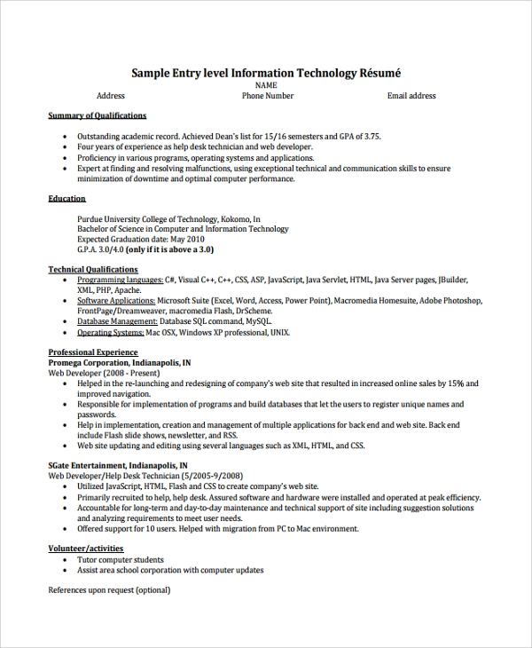 free help desk technician resume templates in pdf ms word software for windows xp entry Resume Free Resume Software For Windows Xp