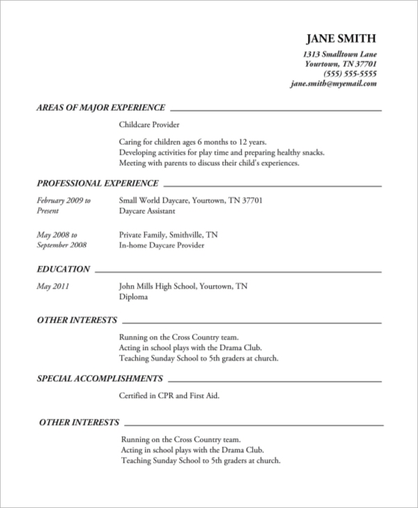 free high school resume samples in ms word pdf professional printable example clear Resume Professional High School Resume