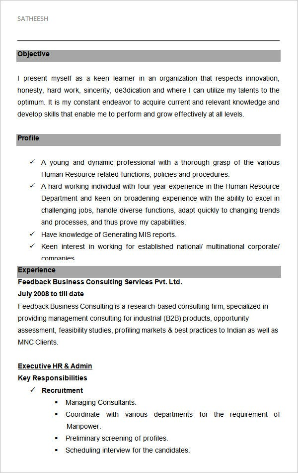 free hr resume templates in ms word pdf publisher indesign premium executive human Resume Executive Human Resources Resume Samples