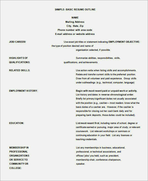 free indesign alternative resume template outline word professional rooms controller Resume Professional Resume Outline