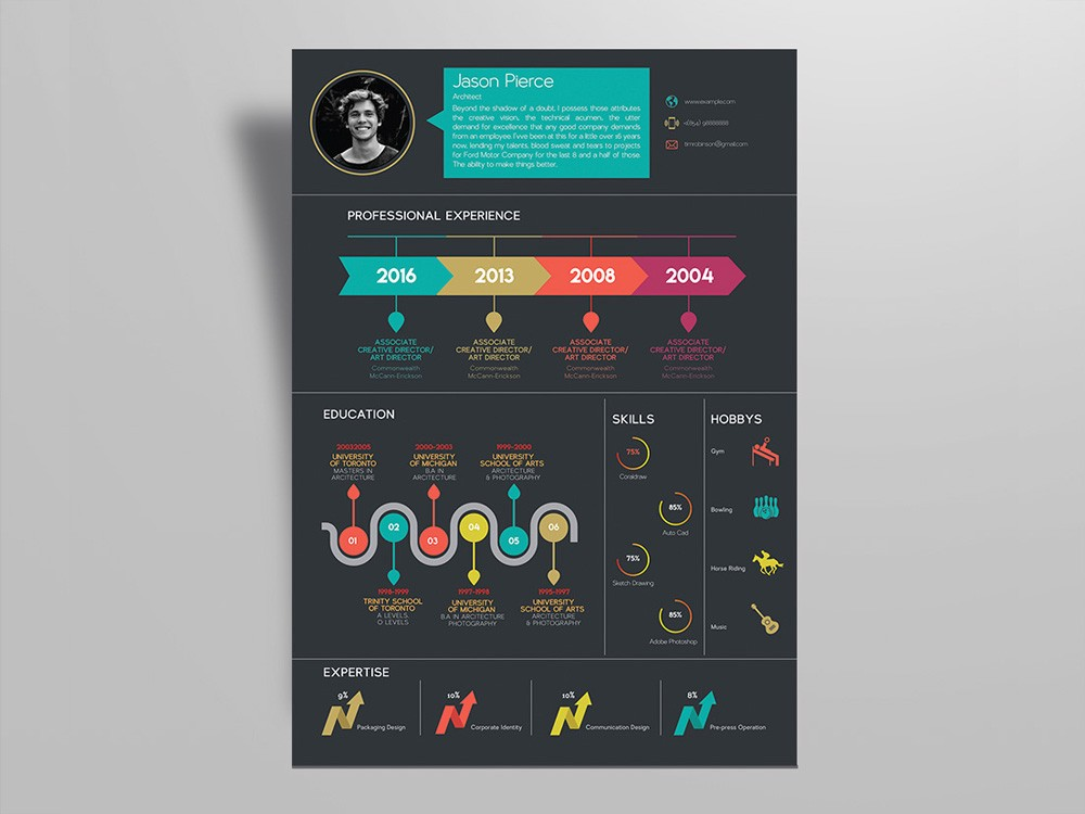 free infographic resume templates for best impression by julian ma medium create Resume Create Infographic Resume