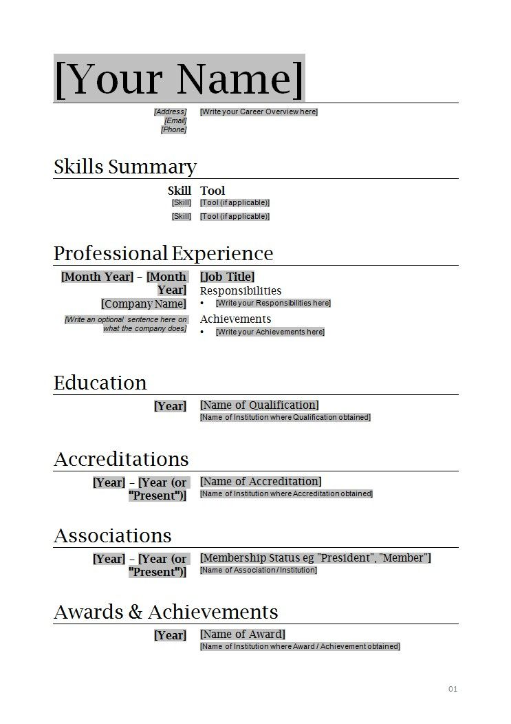 free mini course sample resume templates template word downloadable simple wkz builder Resume Resume Template Word Simple