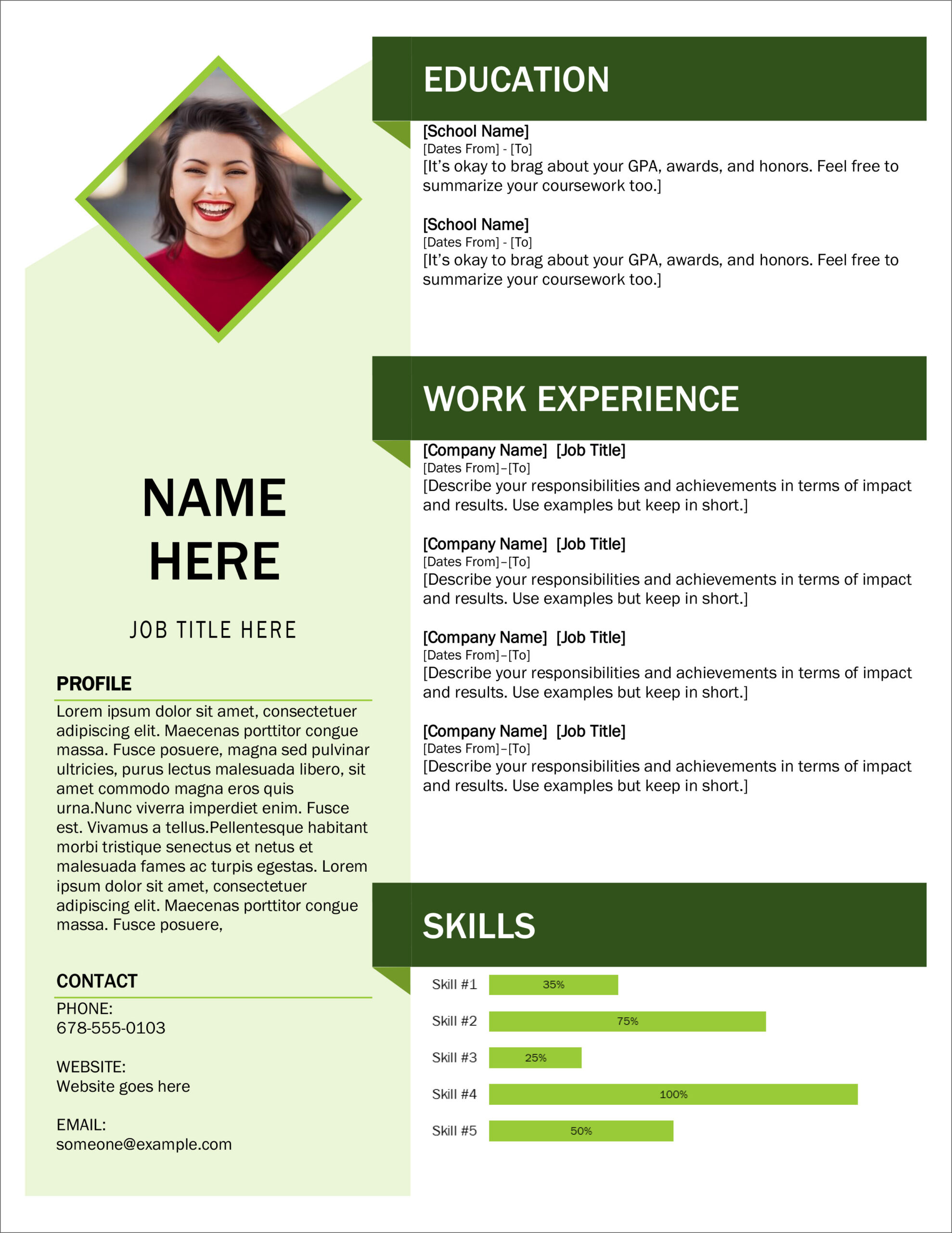 free modern resume cv templates minimalist simple clean design attractive microsoft Resume Attractive Resume Templates Free Download