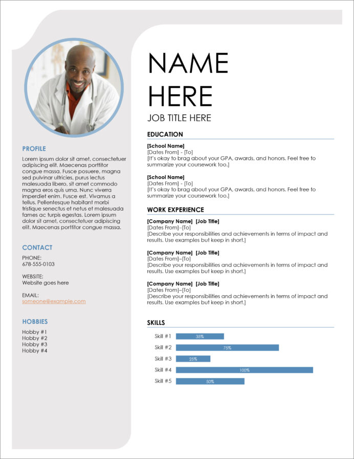 free modern resume cv templates minimalist simple clean design basic template word Resume Basic Resume Template Word Download