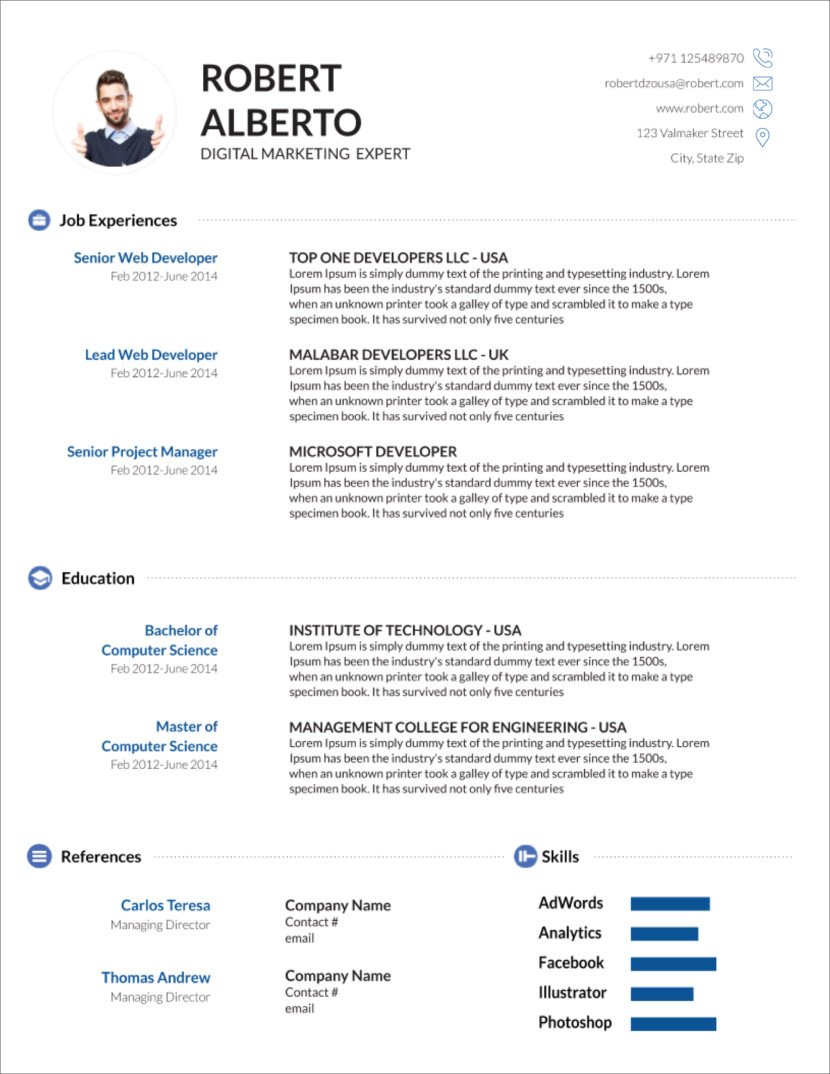 free modern resume cv templates minimalist simple clean design sample word document Resume Resume Sample Word Document Download