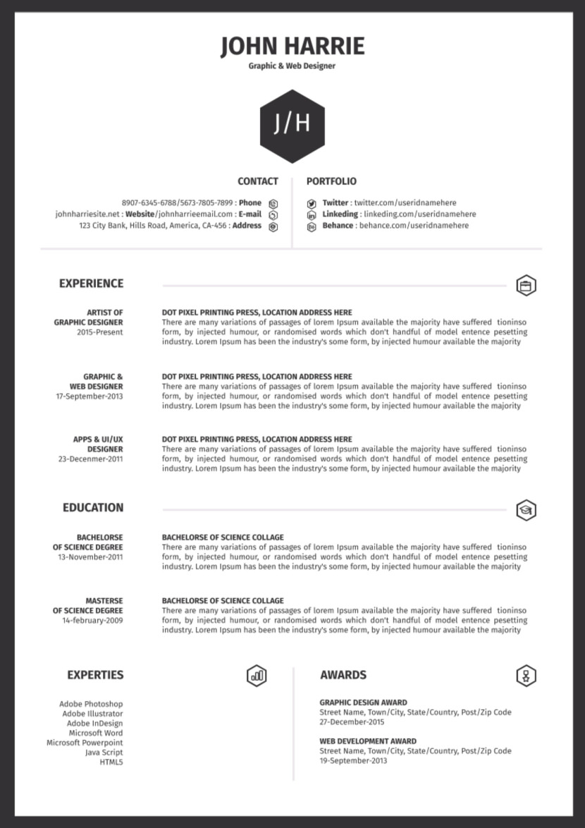 free one resume templates great examples simple google college recruiter hotel and Resume Great One Page Resume Examples