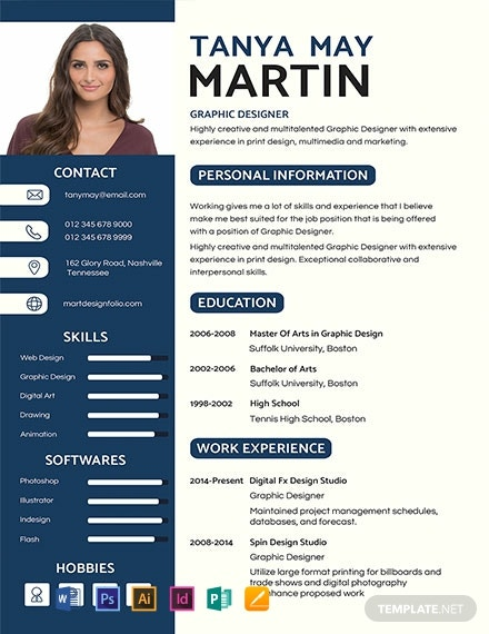 free photo resume templates word indesign apple publisher illustrator template net Resume Pictorial Resume Templates