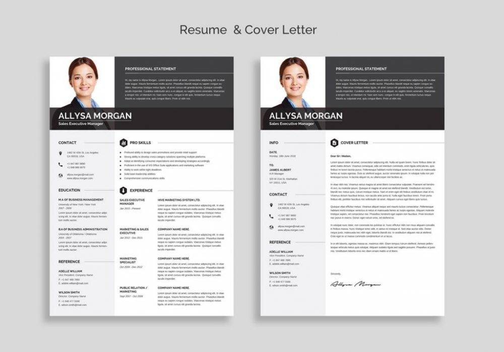 free professional resume template word maxresumes templates for 1000x700 account manager Resume Resume Templates For Word 2020