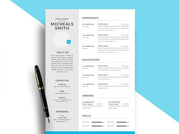 free resume cv templates in photohsp format modern template 600x450 prior authorization Resume Modern Resume Template 2020