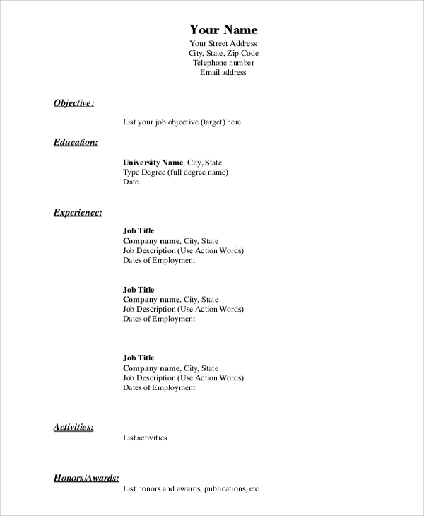 free resume format samples in ms word pdf sample templates for experienced financial Resume Sample Resume Templates For Experienced