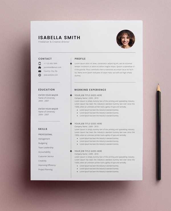 free resume template cv freebies graphic design junctiongraphic junction examples 3page Resume Free Resume Examples 2020