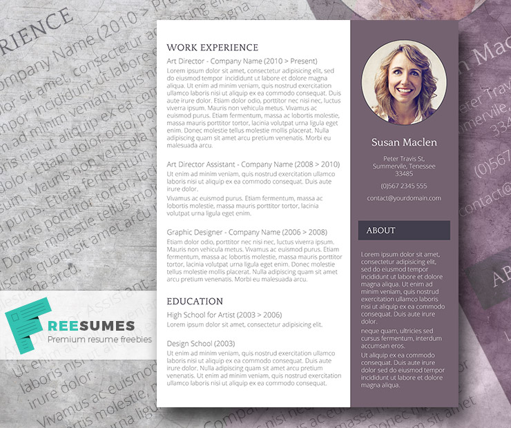 free resume template the sophisticated candidate freesumes word templates for college Resume Word 2003 Resume Templates Free