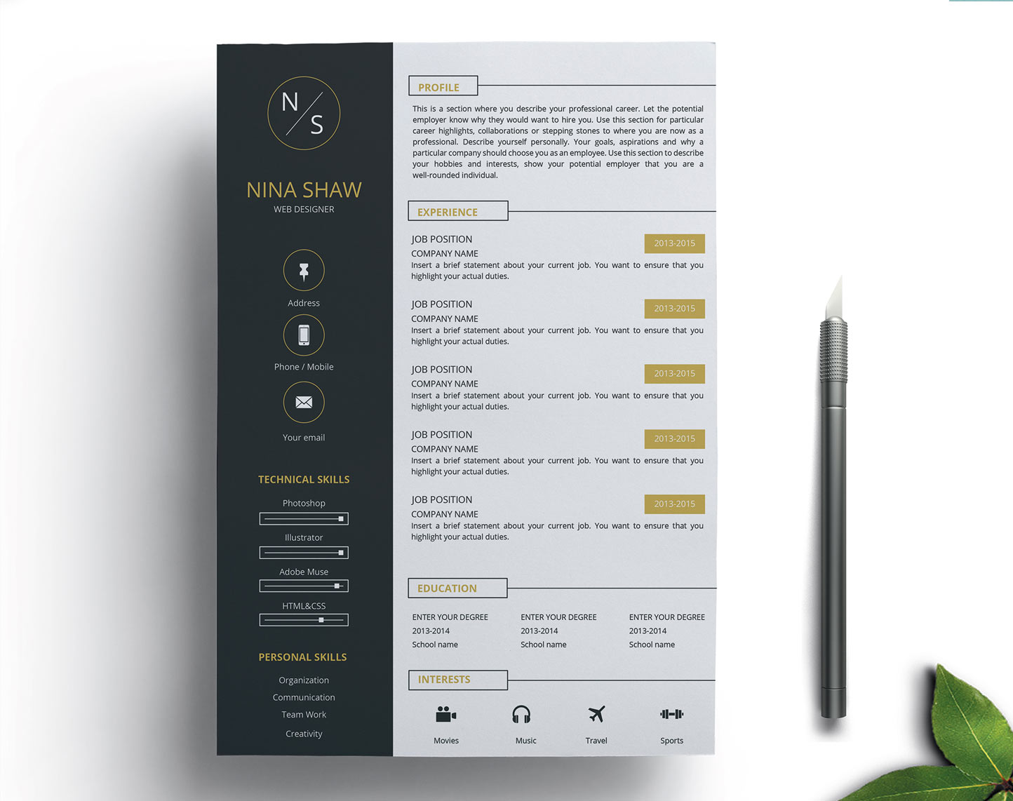 free resume template with matching cover letter resumekraft the muse templates clean Resume The Muse Resume Templates