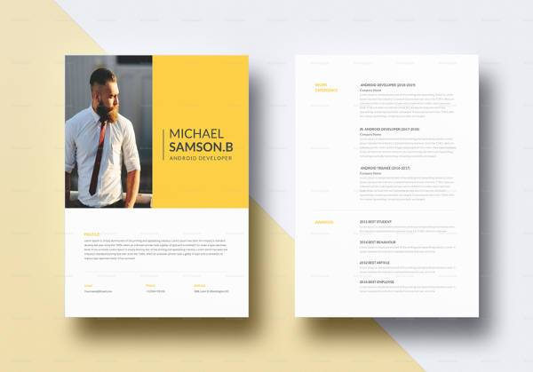 free sample android developer resume templates in pdf creative template word hard skills Resume Creative Developer Resume