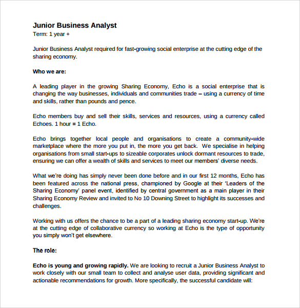 free sample business analyst resume templates in pdf ms word format for fresher standard Resume Resume Format For Business Analyst Fresher