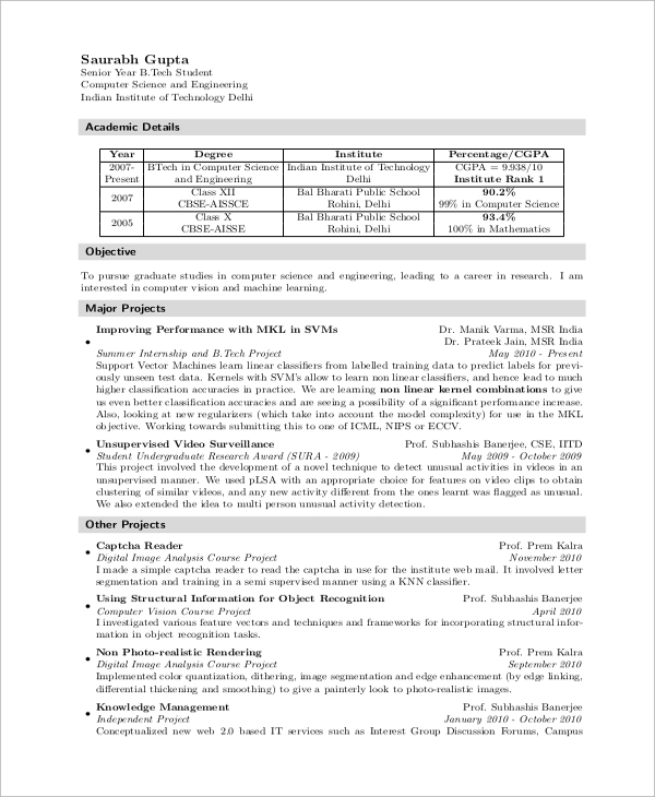 free sample computer science resume templates in ms word pdf pursuing graduation format Resume Pursuing Graduation Resume Format