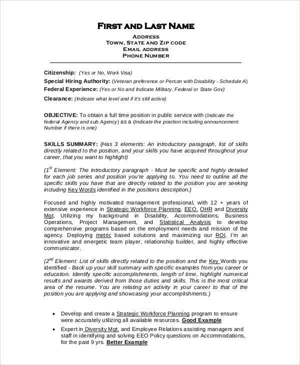 free sample format for resume templates in pdf ms word targeted military template federal Resume Targeted Military Resume Template