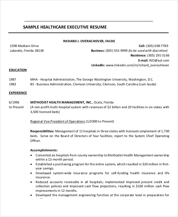 free sample healthcare resume templates in ms word pdf samples executive example best Resume Free Healthcare Resume Samples
