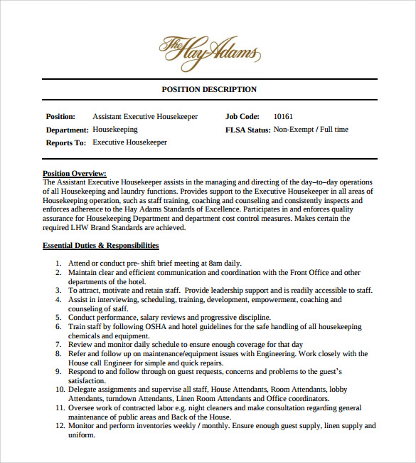 free sample housekeeping resume templates in pdf ms word executive housekeeper objective Resume Executive Housekeeper Resume Objective