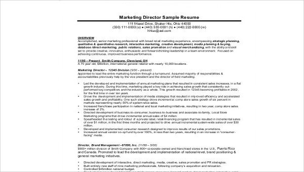 free sample marketing director resume templates in ms word pdf samples resumes civil Resume Free Marketing Resume Samples