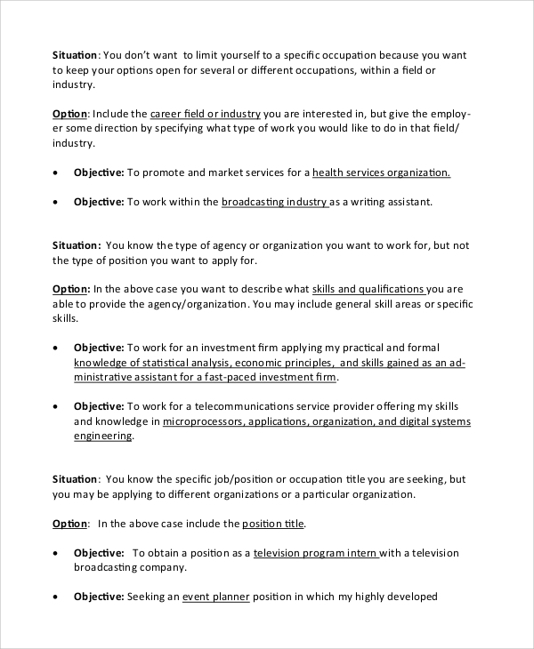 free sample objective statement for resume templates in pdf entry level job content Resume Entry Level Job Resume Objective Statement