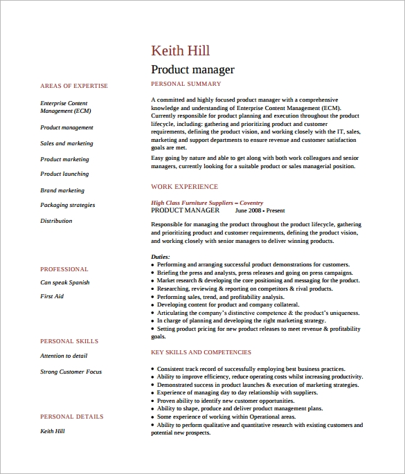 free sample product manager resume templates in pdf ms word associate template summary Resume Associate Product Manager Resume