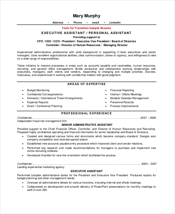 free sample resume templates in pdf ms word excel personal assistant responsibilities Resume Personal Assistant Responsibilities Resume