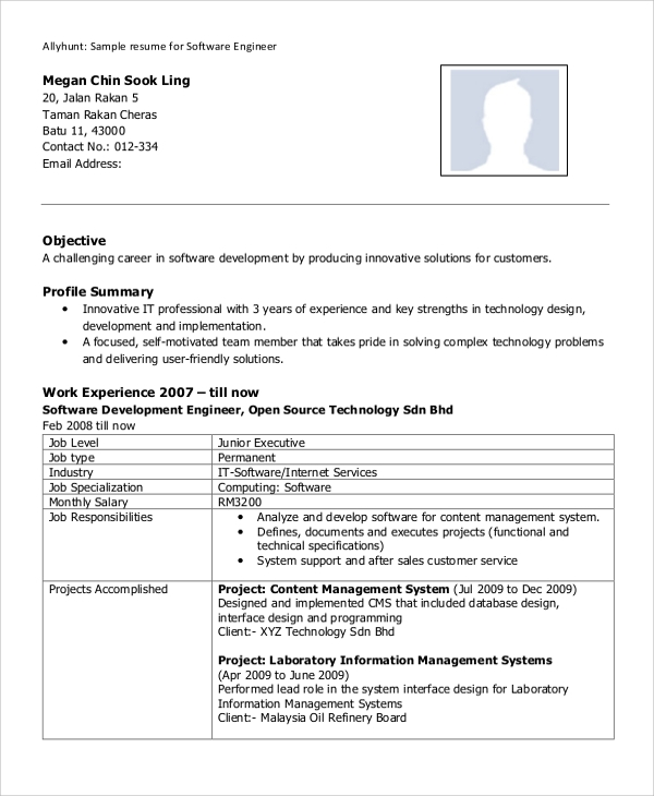free sample software engineer resume templates in ms word pdf experienced of an social Resume Experienced Software Engineer Resume