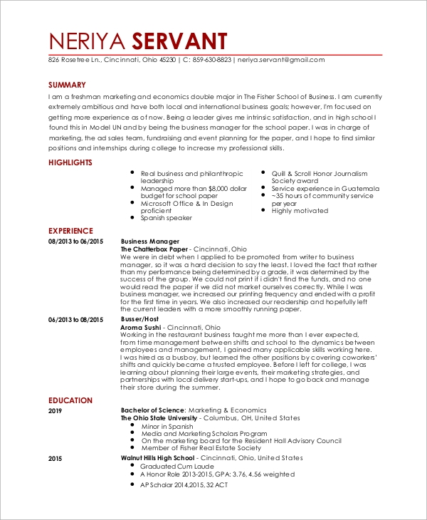 free sample waitress resume templates in pdf ms word server examples entry level software Resume Waitress Server Resume Examples