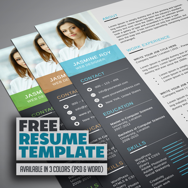 freebie clean cv resume template freebies graphic design junctiongraphic junction for Resume Resume For Graphic Designer Free Download